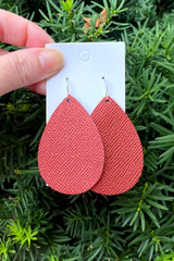 'Teardrops of the Sun' Earrings - Red
