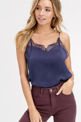 'Evergreen Attitude' Cami - Navy