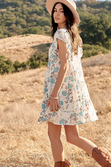 'Cornflower Field' Dress - Off White