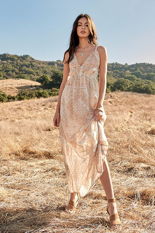'Gypsum Grains' Maxi-dress