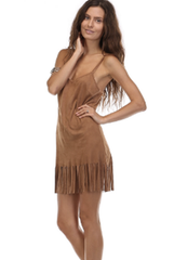 'Little Pocahontas' Dress - Camel
