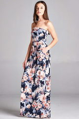'Garden Party' Dress - Navy