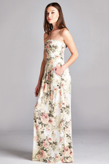 'Antique Roses' Dress - Ivory