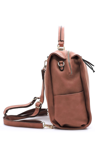 'Riverbed Bend' Bag - Peach