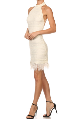'Cubre Libre' Cocktail Dress - Beige