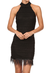 'Cubre Libre' Cocktail Dress - Black