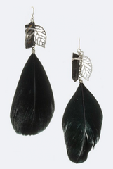 'Quartz We Love You' Earrings - Black
