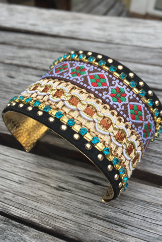'Down The Amazon' Cuff Bracelet