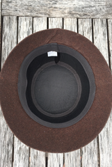 'Roxy Hart' Vintage Wool Hat - Brown
