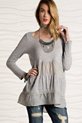 'Java Time' Top - Grey