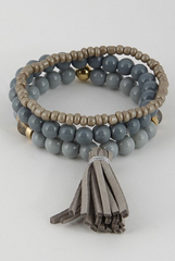 'Second Nature' Bracelet - Grey