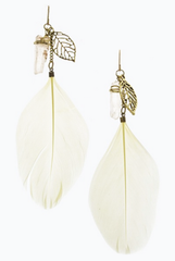 'Quartz We Love You' Earrings - Ivory