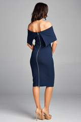 'Modern MadMen' Dress - Indigo