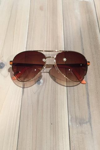 'Wanna Have Fun' Aviator Sunglasses - Orange