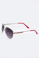 'Wanna Have Fun' Aviator Sunglasses - Red