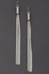 'The Long Story' Earrings - Silver