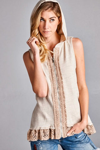 'Summer Loving' Vest - Tan