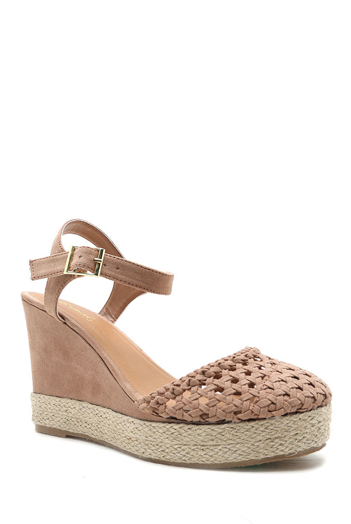 'FIONA' Espadrille Wedge - Taupe