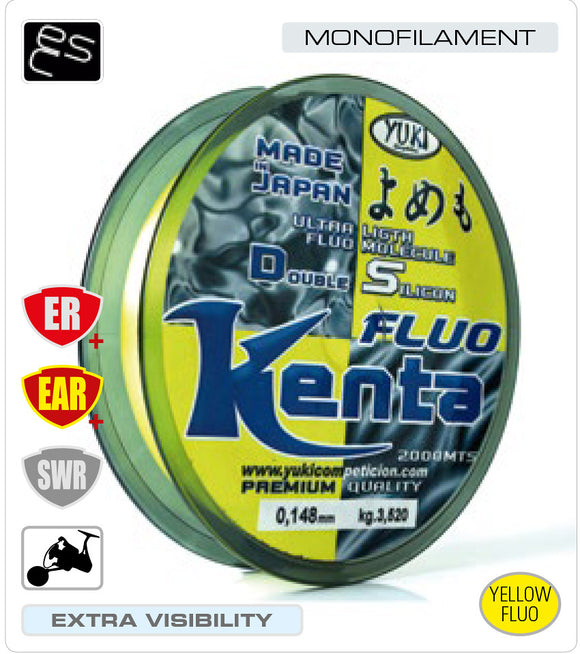 Yuki Kenta Fluo Premium Quality Fishing Line 2000m Spool Made In Japan