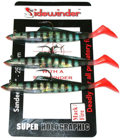 Sidewinder Mackerel Fire Sandeel Fishing Lures 6""