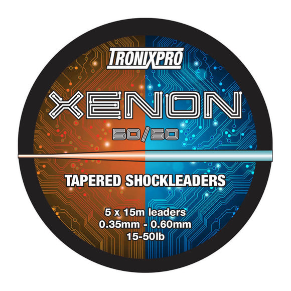 Xenon Tapered Shock Leader 50/50 | 0.35-0.70mm | 15lb-60lb | 5x15m