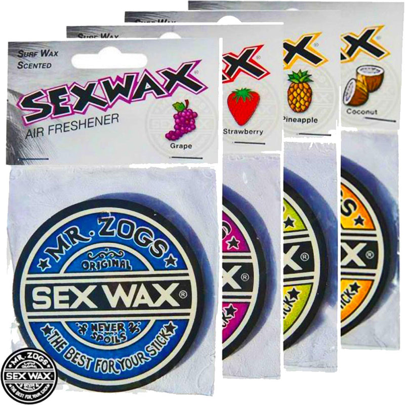 Sex Wax Air Fresheners Bulk Buy x 4 Scents Grape Coconut Strawberry and Pineapple