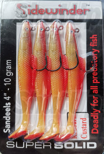 Sidewinder Eels Sandeel Rhubarb Custard Sea Fishing Lures
