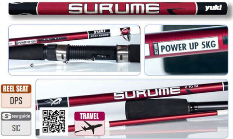Yuki Surume Boat Series 3 Piece Fishing Rod - Ideal Travel Boat Rod