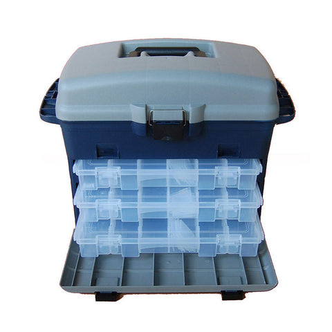 Tronixpro Front Opening Tackle Box Complete With 3 Tackle Boxes