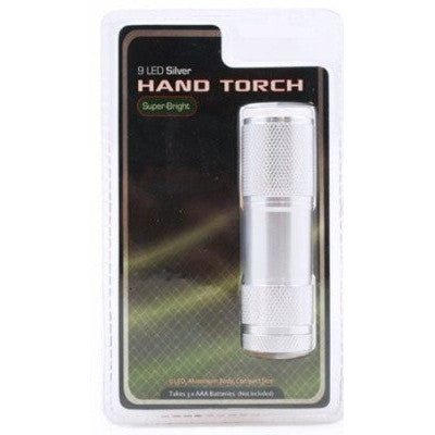 Aluminium 9 LED Hand Torch