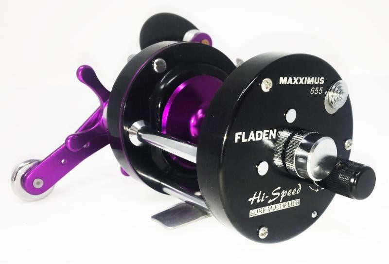 Fladen Maxximus 655 Mono Mag Hi Speed Surf Sea Multiplier Fishing Reel