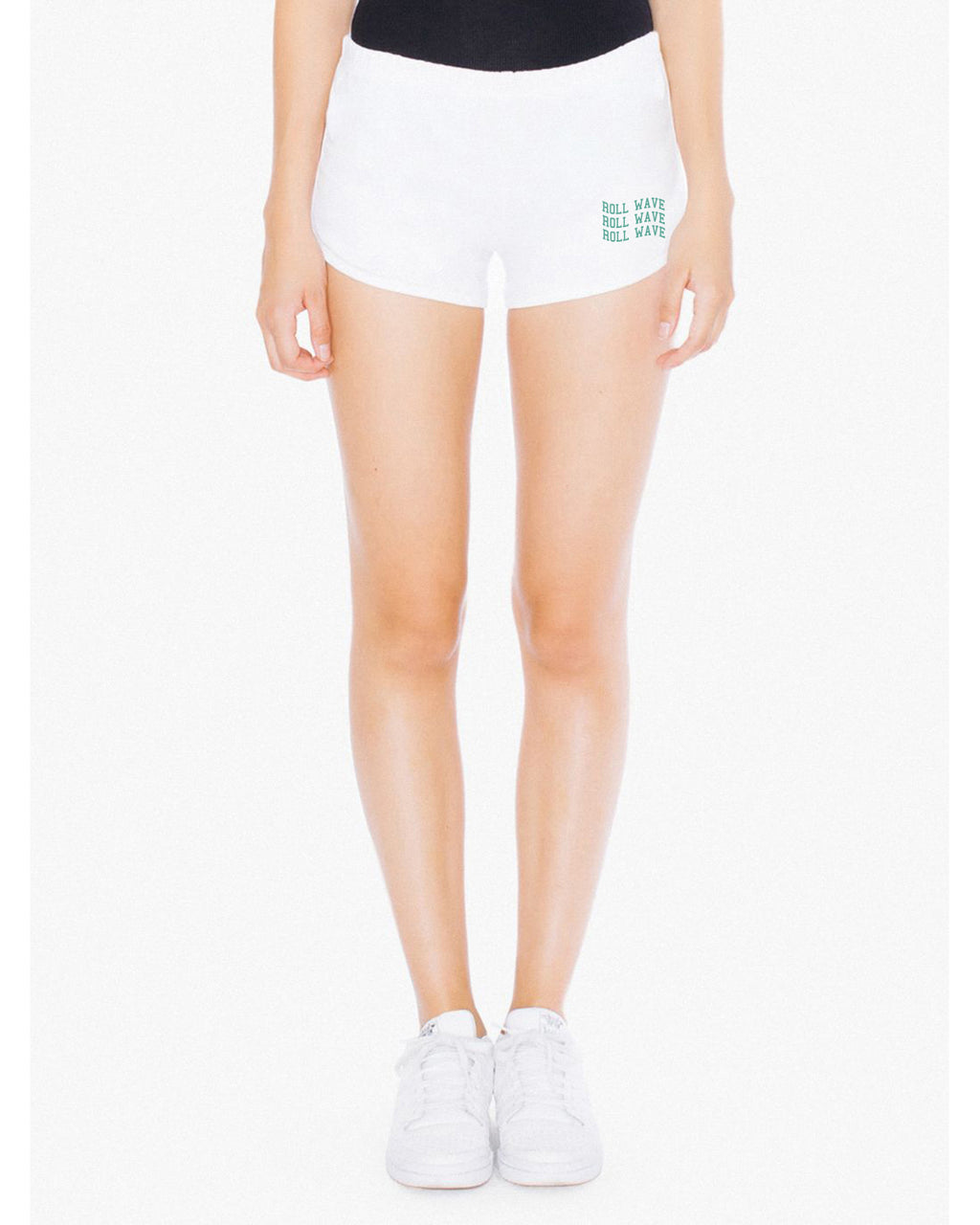 WAVY RETRO SHORTS - WHITE