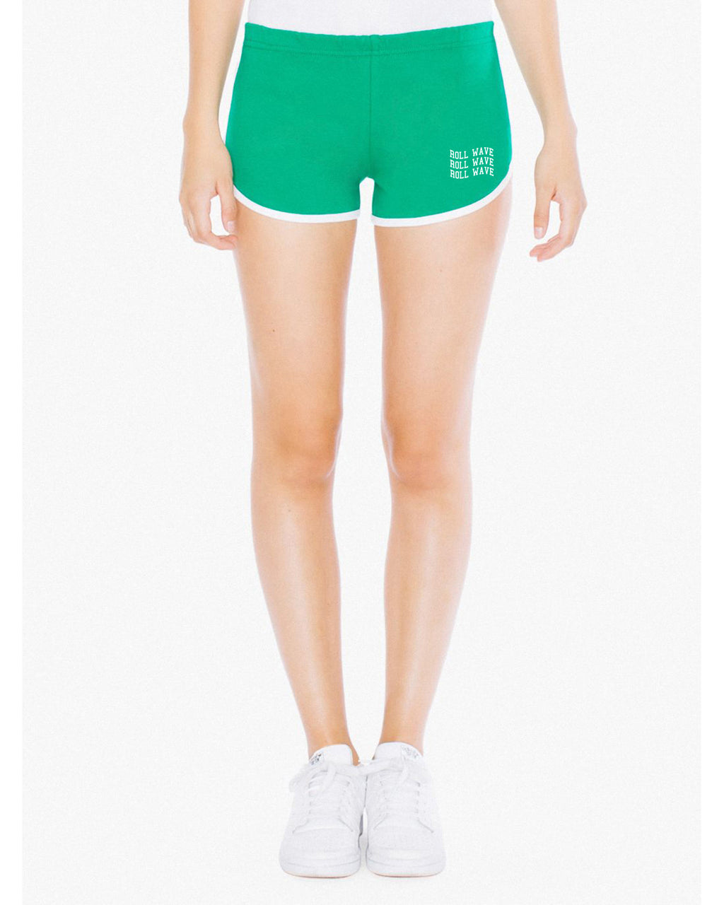 WAVY RETRO SHORTS - GREEN