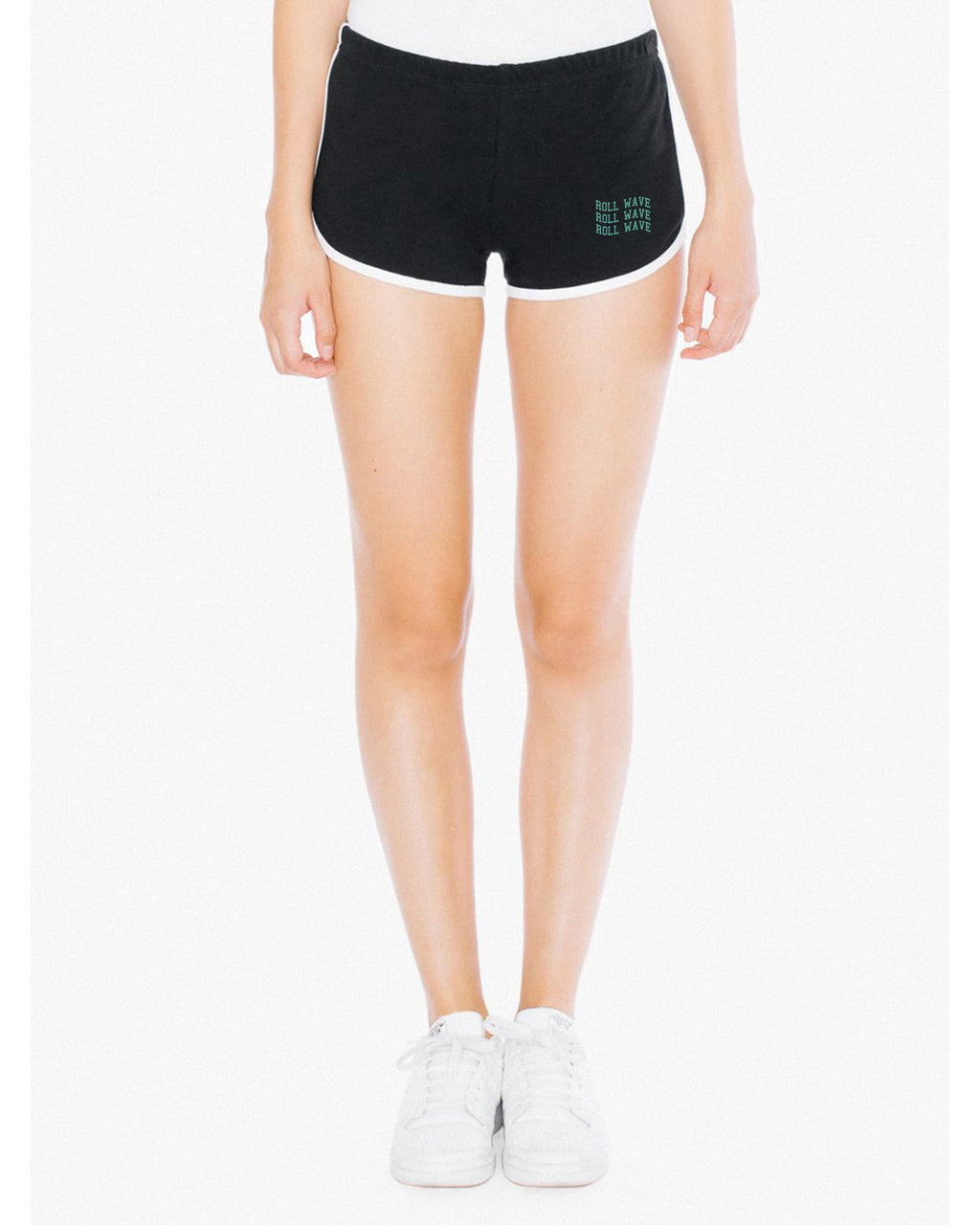 WAVY RETRO SHORTS - BLACK