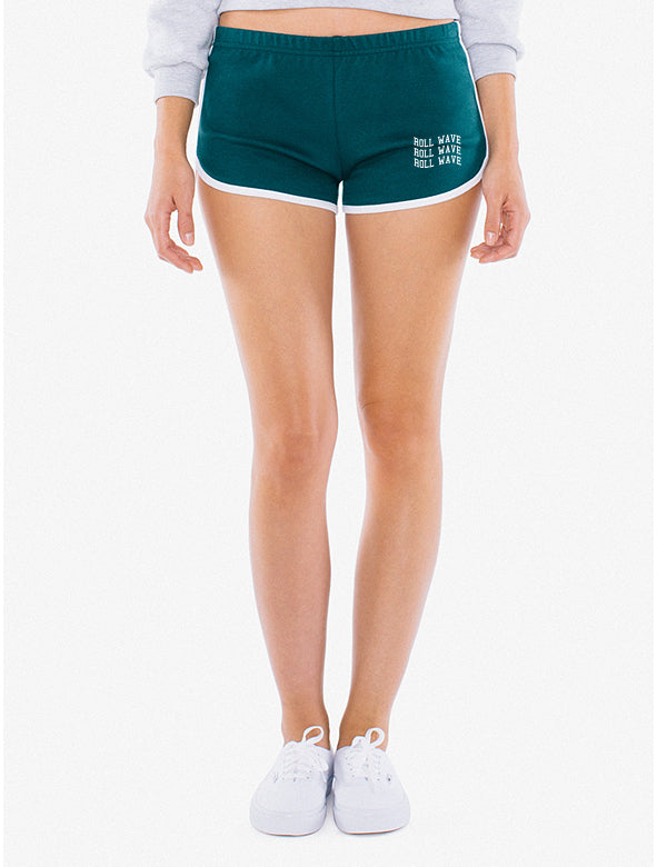 WAVY RETRO SHORTS - FOREST