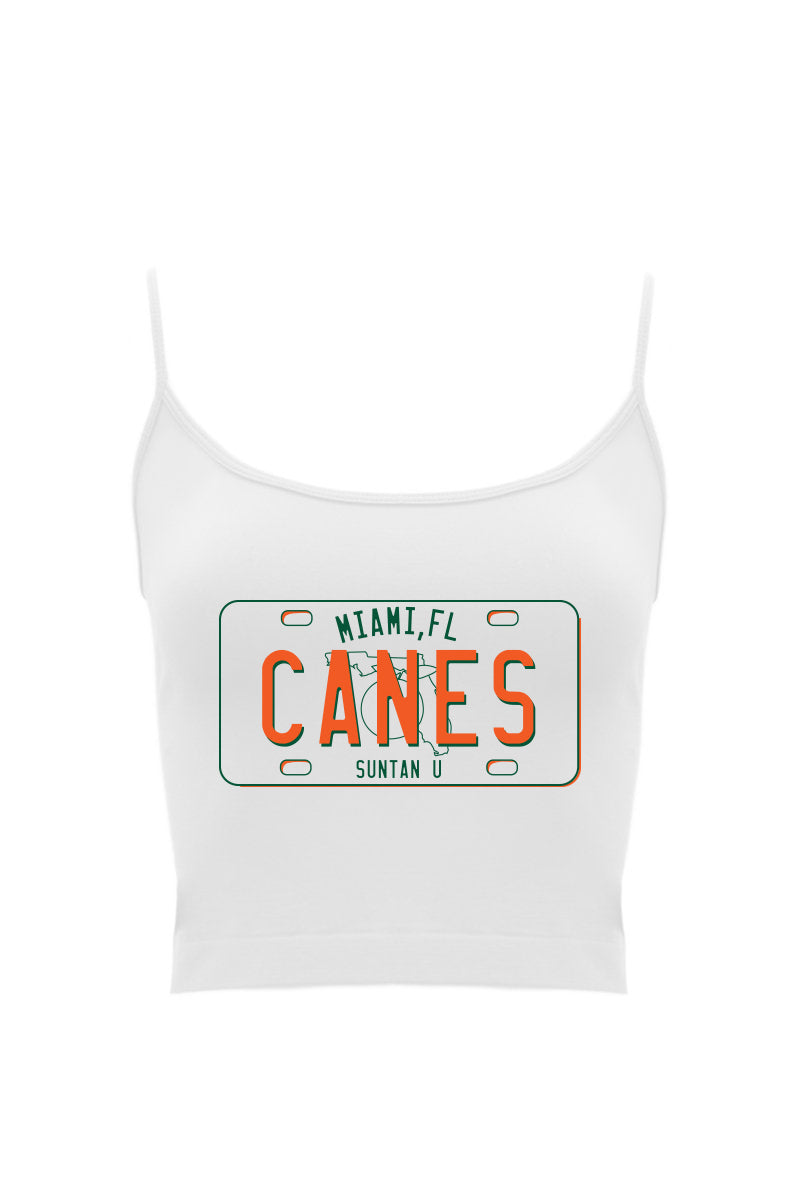 Canes License Cropped Tank
