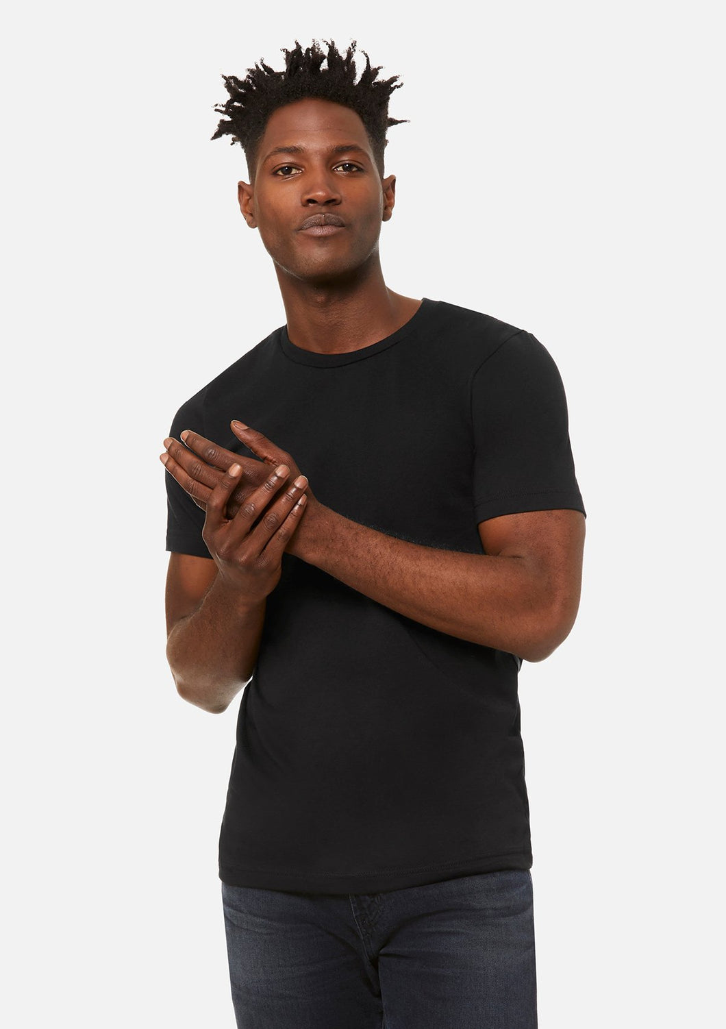 The Airlume Cotton Crew Tee Bundle Black