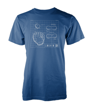 Glove Blueprint Tee - Navy