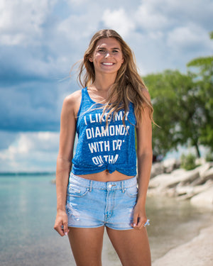 Diamonds With Dirt Tank (Women's) - Royal