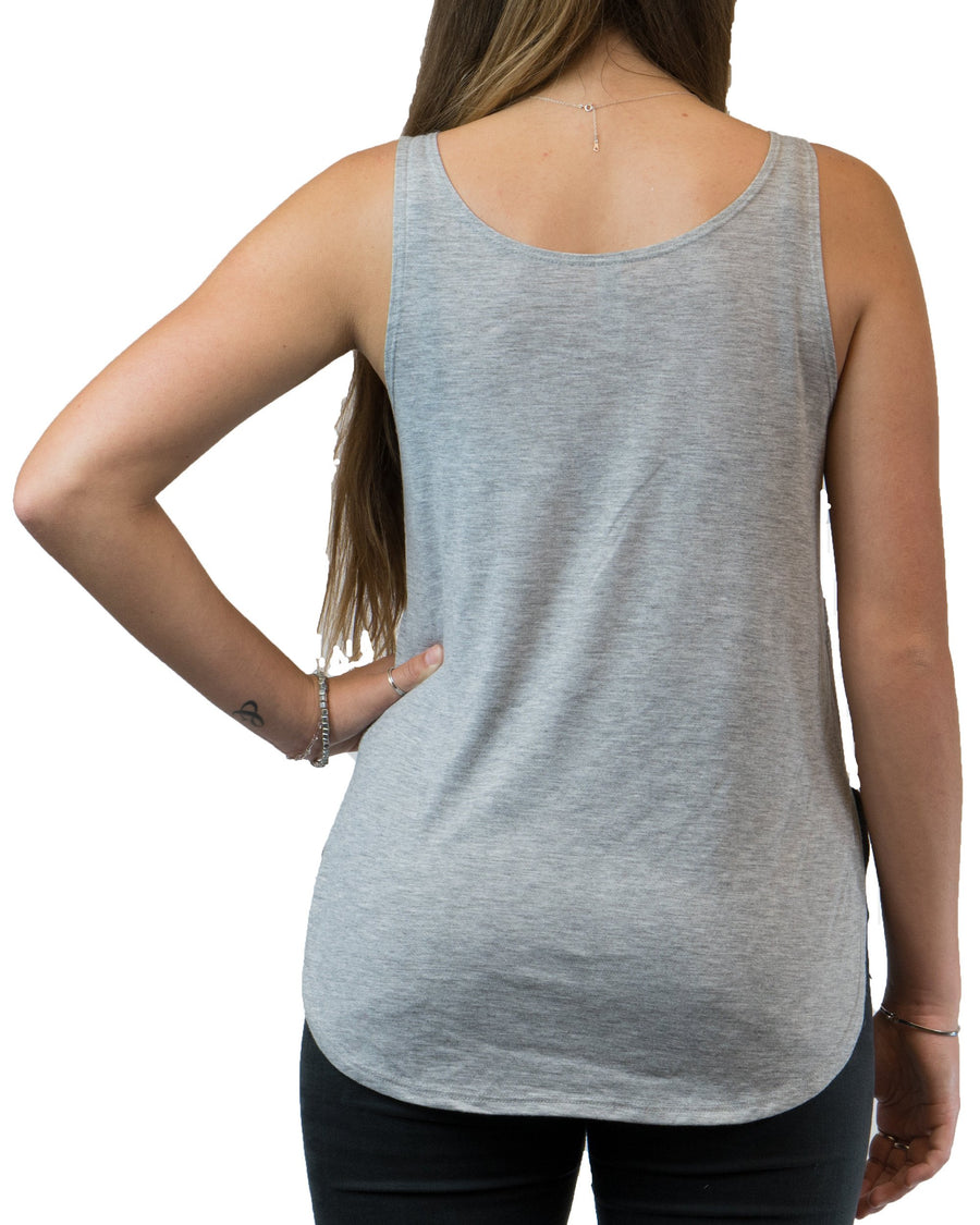 Stitched Heart Tank (Women's) - Grey