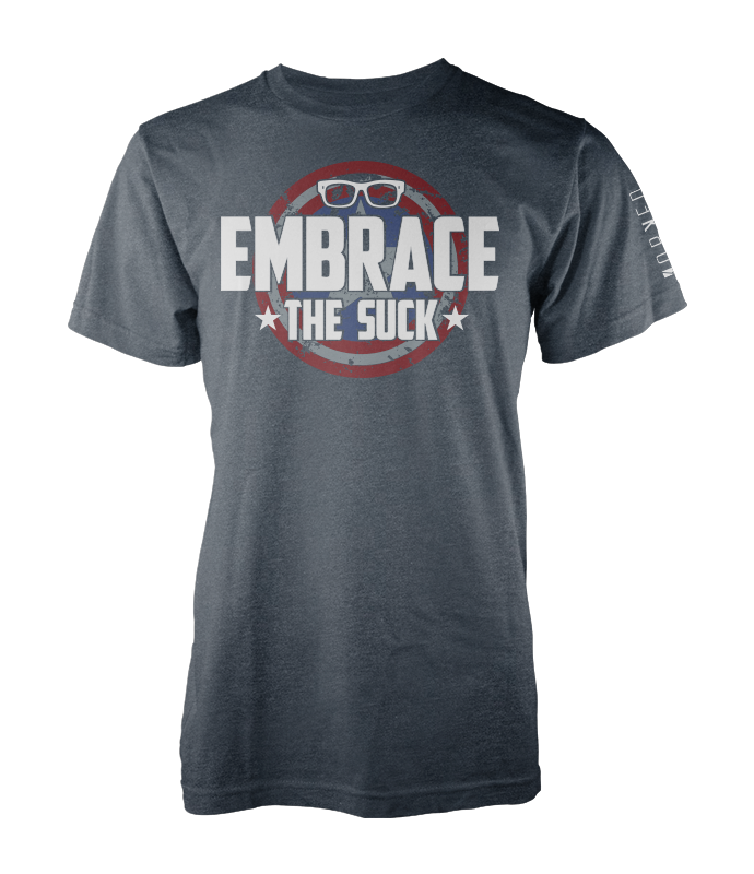 'Merican Embrace The Suck - Heather Navy
