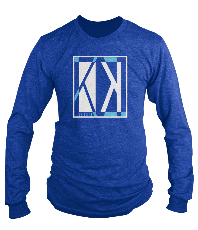 Blue Logo Shattered Long sleeve Shirt