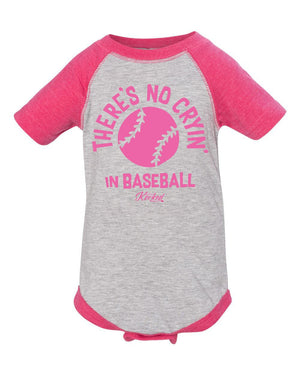 Infant There's No Cryin' Onesie - pink