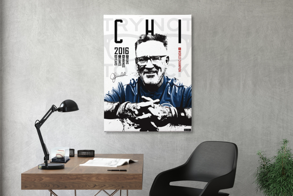 Pre-Order Only - Joe Maddon Signed Limited Edition World Champion Canvas Print