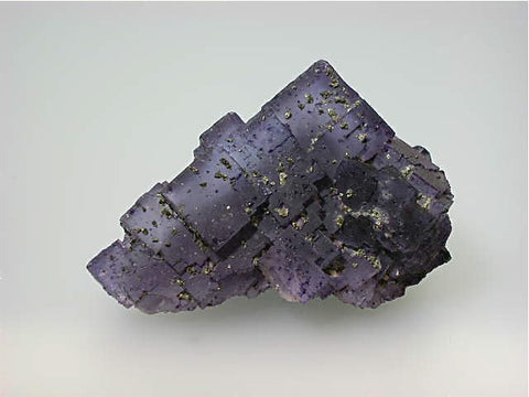 Fluorite with Chalcopyrite, Sub-Rosiclare Level, Bahama Pod, Denton Mine, Ozark-Mahoning Company, Harris Creek District, Southern Illinois, Mined c. 1982, Tolonen Collection, Small Cabinet 4.5 x 5.0 x 8.0 cm, $150.  Online 1/16 SOLD