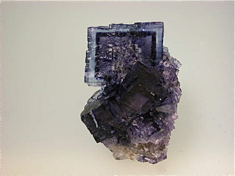 Fluorite with Sphalerite, Rosiclare Level Minerva #1 Mine, Ozark-Mahoning Company, Cave-in-Rock District, Southern Illinois, Mined ca. 1990-1992, Koster Collection #00169, Miniature 2.0 x 2.3 x 4.0 cm, $125. Online 03/04.  SOLD.