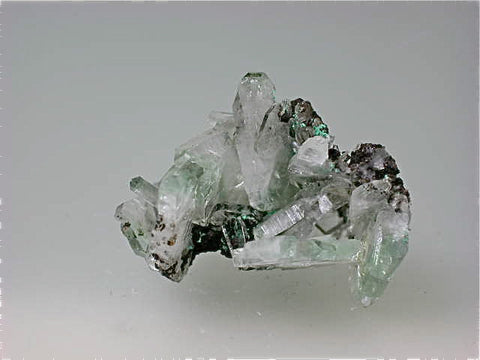 Barite with Malachite, Shankolowe Mine, Republic of the Congo, Eric Peterson Collection, Miniature 3.4 x 3.4 x 4.0 cm, $45. Online 11/6 SOLD