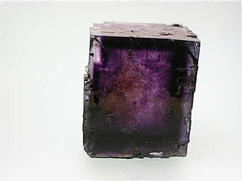 Fluorite, Rosiclare Level Minerva #1 Mine, Ozark-Mahoning Company, Cave-in-Rock District, Southern Illinois, Mined ca. 1991-1993, Koster Collection #00024, Miniature 2.2 x 2.5 x 3.0 cm, $250. Online 03/04.  SOLD.