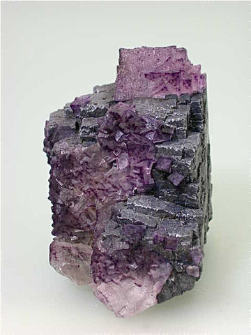 Fluorite on Galena, Hill-Ledford Mine Sub-Rosiclare Level attr., Ozark-Mahoning Company, Cave-in-Rock District, Southern Illinois, Mined c. early 1960's, Tolonen Collection, Small Cabinet 5.0 x 7.0 x 7.5 cm, $650. SOLD