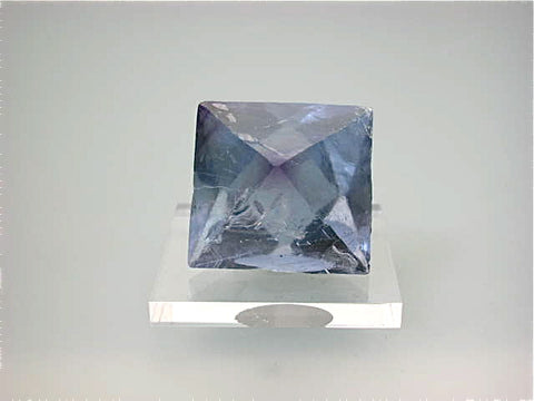 Fluorite (Cleavage), Denton Mine attr., Southern Illinois Miniature 3.5 cm on edge $25. Online 11/09